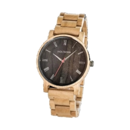 Armbanduhren holz Holzkern Frühlingsmorgen