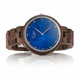 Cari Damen Frauen Holzuhr 36mm mit Schweizer Uhrwerk - Holz-Armbanduhr Kapstadt-101 - 1