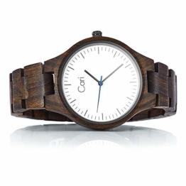Cari Damen & Herren Holzuhr 40mm mit Schweizer Uhrwerk - Holz-Armbanduhr Berlin-031 - 1