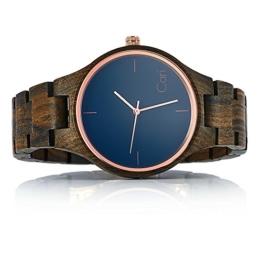 Cari Damen & Herren Holzuhr 40mm mit Schweizer Uhrwerk - Holz-Armbanduhr Oslo-041 - 1