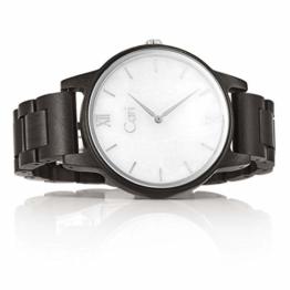 Cari Herren Männer Holzuhr 42mm mit Schweizer Uhrwerk - Holz-Armbanduhr Athen-121 - 1