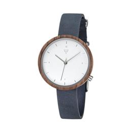 Kerbholz Damen Analog Quarz Uhr mit Leder Armband 4251240402529 - 1