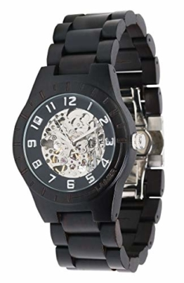 LAiMER Herren-Armbanduhr RUDOLPH Mod. 0050 aus Ebenholz - Analoge Automatikuhr mit Skelett-Uhrwerk - 21 Jewels - 1