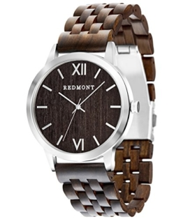 REDMONT Herrenuhr mit Holzarmband Analog Quarz Horizon Collection Sandalwood Edition - 1