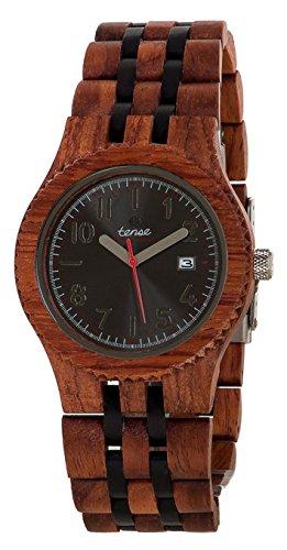 TENSE // Die Holzuhr - Mens Yukon Kerriholz/Black Oak - Herren-Uhr - Holz-Uhr J5200RD - 1