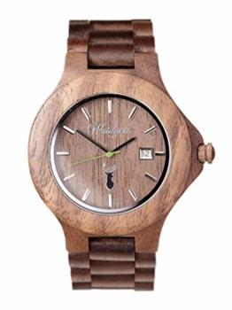 Waidzeit GA01 Premium Gams Uhr Herrenuhr Holz Holz Analog Datum Braun - 1