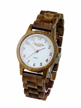 Waidzeit SW03A Sissy zeitlos holzig Uhr Damenuhr Holz Analog Braun - 1