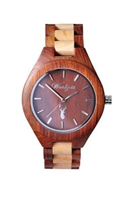 Waidzeit Unisex-Uhr Holz Platzhirsch AUERHAHN Armbanduhr AU02 - 1