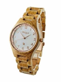 Waidzeit YB03 Barrique Rosé Uhr Damenuhr Holz Holz Analog Braun - 1