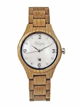 Waidzeit YS03 Barrique Blanc de Blancs Uhr Damenuhr Holz Holz Analog Braun - 1