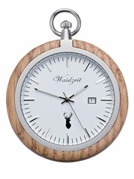 Waidzeit YT01 Barrique Bacchus Uhr Herrenuhr Holz Analog Datum Weiss - 1