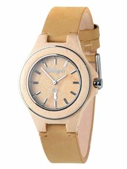 Waidzeit ZI03 Zirbenuhr Uhr Damenuhr Lederarmband Holz Analog Braun - 1