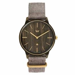 WeWOOD Damen-Armbanduhr, Holz, Iris Brown Gold - 1