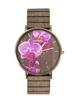 WeWood Damenuhr Aurora Flower Nut WW48001 - 1