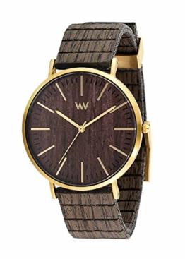 WEWOOD Herren Analog Quarz Smart Watch Armbanduhr mit Holz Armband WW61002 - 1