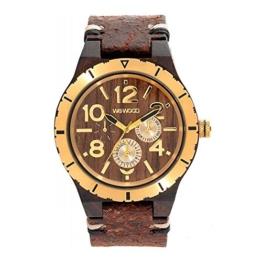 WEWOOD Herren Analog Quarz Smart Watch Armbanduhr mit Leder Armband WW59001 - 1
