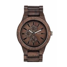 WEWOOD Herren Chronograph Quarz Smart Watch Armbanduhr mit Holz Armband WW30003 - 1