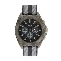 WEWOOD Herren Chronograph Quarz Smart Watch Armbanduhr mit Stoff Armband WW56001 - 1