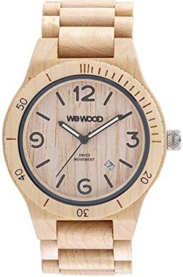 WeWood Herren-Holzuhr Alpha SW Beige WW08006 - 1