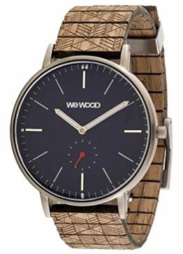 WeWood Holz-Armbanduhr Albacore Silver Blue Nut WW63005 - 1