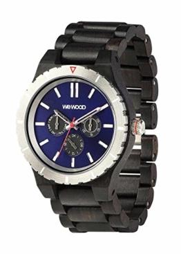 Wooden Watch Wewood Kappa MB Steel Dial Black Blue 70363309 - 1