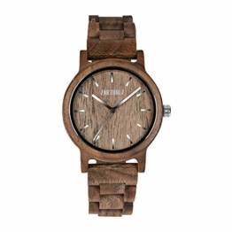 ZARTHOLZ Herren Damen Unisex Holzuhr Holz-Armbanduhr Klassik - 1