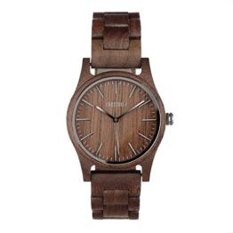 ZARTHOLZ Herren Damen Unisex Holzuhr Holz-Armbanduhr Meister - 1