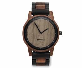 Branvon Holzuhr | Herren Uhr | Analog Quarz| Holzarmbanduhr mit Marmor-Ziffernblatt | inkl. Holz Geschenkbox - 1