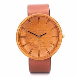Holzuhr Herren Von Ovi Watch, Minimalistisches Design, Nachhaltige Produkte - 1