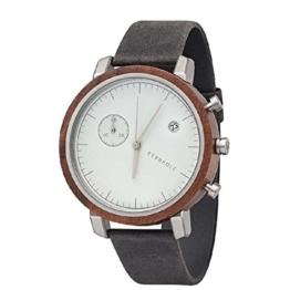 Kerbholz Armbanduhr Franz Walnut Asphalt - 1