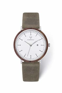 Kerbholz Damen Analog Quarz Uhr mit Leder Armband 4251240409252 - 1