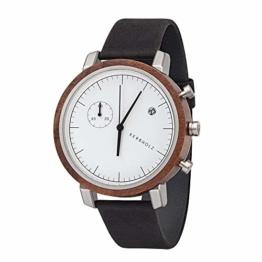 Kerbholz Herren Analog Quarz Uhr Mit Leder Armband 4251240407463 - 1