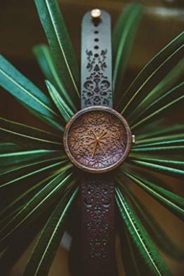 Ovi Watch - Mandala King | Hochwertige Handgefertigte Uhr aus Nussbaumholz mit Mandala-Symbolen | Schweizer Uhrwerk & Saphir Glas | - 1